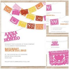 papel banner invites