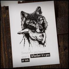 "Postkarten-Set 3 x ""Schaf im Wolfspelz"" via camarocaro. Click on the image to see more!"