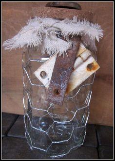 Chicken wire jar