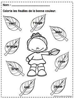 Le cahier de Pénélope French Teaching Resources, Teaching French, Learning French For Kids, Kids Learning, French Crafts, French Worksheets, French Colors, French Kids, French Education