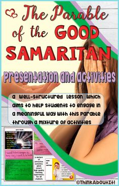 'The Good Samaritan Presentation and Activities' is a well-structured lesson which aims to help students to interact in a meaningful way with this parable through a mixture of engaging activities which ensure high-quality learning experiences for all students! #Christianity #parables #thegoodsamaritan #tesresources #presentation #activities