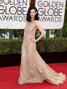 Eva Green in an Elie Saab Haute Couture dress and Repossi jewelry - 2016 Golden Globe Awards