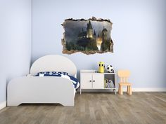 HARRY POTTER HOGWARTS 3D SMASHED HOLE IN WALL DECAL & Harry potter hogwarts 3d smashed hole in wall decal | Harry potter ...