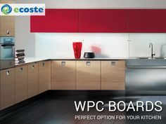 Select ‪#‎WPC‬ Boards for your ‪#‎Kitchen‬ & Enhance the Look of your ‪#‎Home‬ - www.ecoste.in