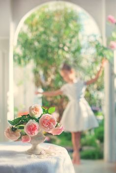 my little ballerina by Mariya Ilmaz Ballet Photos, Little Ballerina, Flower Quotes, Rose Cottage, Summer Breeze, Lily Of The Valley, Color Photography, Rose Buds, My Favorite Color