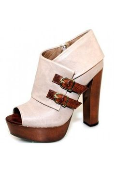 GREY TRENDY CHIC BUCKLE DESIGN BOOTIE @ KiwiLook fashion