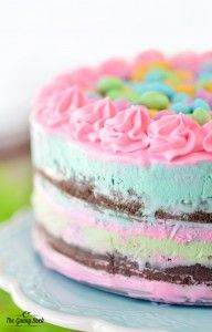 How to Homemade Ice Cream Cake Diy ice cream Cream cake and Cake