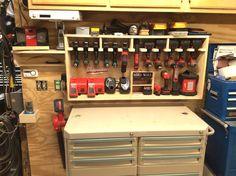 (1) Cordless drill storage center