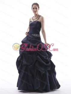 Navy Blue Prom Dress With Beaded and Pick-ups Taffeta Lace-up Black- $147.06  www.fashionos.com  top selling prom dress | 2013 hot seller homecoming dresses | homecoming dress with free shipping | 2013 plus size quinces dresses for big girls | junior prom gown custom made | homecoming dress with beading | navy blue quinceanera dress | 2013 2014 cheap quinceanera gown | strapless quinces gown in 2013 | charlie dimmock dress |