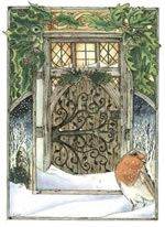 solstice door yule card