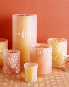 Stamped Glass Candleholders.  So kewl!    http://www.marthastewart.com/273815/stamped-glass-candleholders?czone=holiday/santas-workshop/santas-handmade-gifts=307035=275473=236469