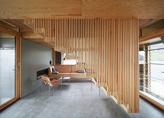 On an island amidst the waters of a Norwegian fjord, Oslo-based architect Knut Hjeltnes has designed a unique holiday home. Mini Clubman, Architecture Office, Architecture Details, Residential Architecture, Oslo, Timber Staircase, Stairs, Clad Home, Journal Du Design
