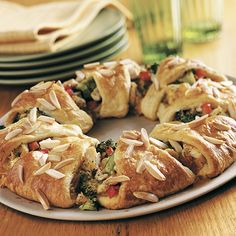 Chicken & Broccoli Ring-The Pampered Chef®  These are very good, you can use a rotisserie chicken for convenience