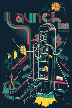 Launch Music Festival Poster