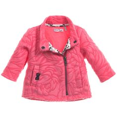 Girls rose pink fleece jacket by IKKS. Made in soft polyester fleece, this lightweight design has a textured feed and an asymmetric zip fastening. It has a stand-up mandarin collar, two side pockets and a patterned jersey front lining.<br /> <ul> <li>100% polyester (soft feel)</li> <li>Machine wash (30*C)</li> </ul>
