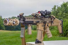 SCAR 16 SBR, silencer, guns, weapons, self defense, protection, 2nd amendment, America, firearms, munitions #guns #weapons