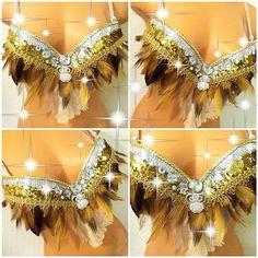 Reserved for Noemi: Native Owl Rave Bra by TheLoveShackk on Etsy