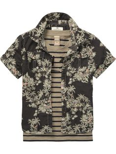 printed shirt with inner tee   Shirt s/s   Boys Clothing at Scotch & Soda