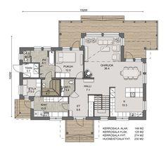 Tähtisafiiri 230 - Lakka.fi Plan Design, Design Ideas, House Floor Plans, Future House, Flooring, Building, Layouts, Flow, House Ideas