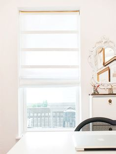 DIY Shades from Blinds | Yellow Brick Home