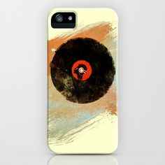 Vinyl Records Retro New Grunge Design - MUSIC DJ!!! iPhone & iPod Case by Denis Marsili - $35.00