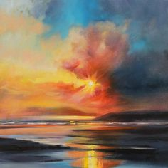 This Glasgow- based artist takes an inspiration from surrounding him Scottish landscapes. His paintings are interpretation of the skies, land, and sea befo