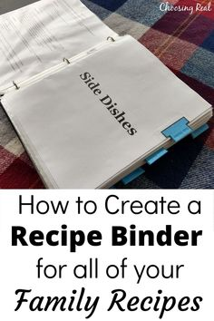 Make meal planning and meal prep easier with a family recipe binder that includes all your favorite family recipes. It's like having your own family cookbook. Family Meal Planning, Budget Meal Planning, Party Planning, Family Recipes, Family Meals, Budget Recipes, Good Healthy Recipes, Real Food Recipes, Recipe Organization