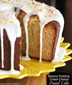 Banana Pudding Cream Cheese Pound Cake by Melissa's Southern Style Kitchen