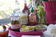 Bloody Mary bar for your New Years day guests.