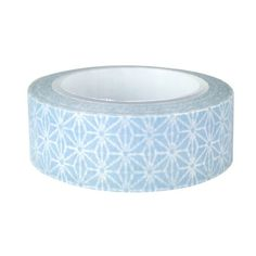 Wrapables Colorful Patterns Japanese Washi Masking Tape, Grey Starry Flower - $7.99