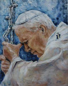 """John Paul the Great"" Papa Juan Pablo Ii, Religious Pictures, Pope John Paul Ii, Holy Mary, Archangel Michael, Catholic Art, Kirchen, Fine Art, Drawings"