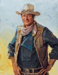 John Wayne Portrait Cross Stitch Pattern***L John Wayne Quotes, John Wayne Movies, O Cowboy, Western Cowboy, Westerns, Actor John, National Art, National Museum, Cowboys And Indians