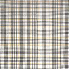 Straw Gray Plaid  Upholstery Fabric