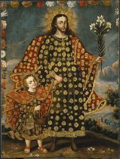Saint Joseph and the Christ Child, Cuzco School