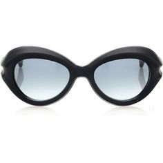 Marni Concave black Temple Sunglasses ($480) ❤ liked on Polyvore