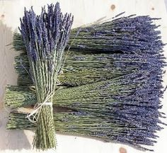 Nothing like the smell of lavendar with babys breath for the bridesmaids bouquets