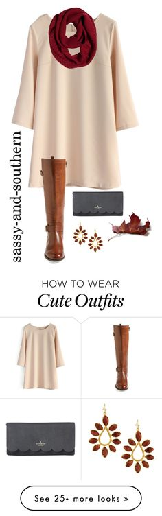"""cute fall outfit"" by sassy-and-southern on Polyvore featuring Chicwish, Naturalizer, Kate Spade, prAna, Kendra Scott and sassysouthernfall"