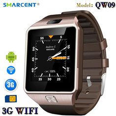 Great Buy $39.42, Buy SMARCENT 3G WIFI QW09 Android Smart Watch 512MB/4GB Bluetooth 4.0 Real-Pedometer SIM Card Call Anti-lost Smartwatch PK DZ09 GT08