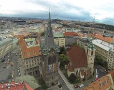 Jindříšská věž z ptačí perspektivy Czech Republic, Prague, Paris Skyline, Travel, Voyage, Viajes, Traveling, Trips, Tourism