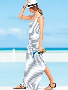 when is summer going to get here :( Ruched Maxi Dress