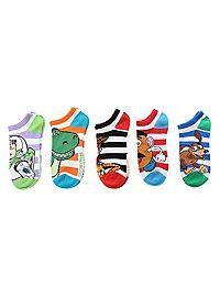 HOTTOPIC.COM - Disney Toy Story Striped No-Show Socks 5 Pair