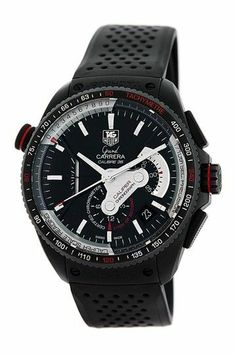 Tag Heuer Men's/Unisex Grand Carrera Stainless Steel Watch by Gruenberg on Dream Watches, Fine Watches, Cool Watches, Watches For Men, Men's Watches, Tag Heuer, Black Rubber Bands, Tactical Clothing, Man Ray