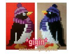 sandylandya@outlook.es  Pinguin aus Bügelperlen von mein Bastelblog