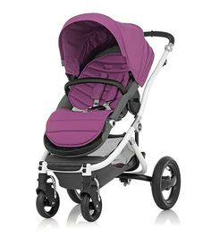 Affinity Stroller by Britax - White base frame with Cool Berry color pack - Britax USA