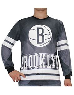 869e430b BROOKLYN NETS NBA Mens Athletic Long Sleeve Thermal Shirt XL Grey >>> Read  more at the image link.