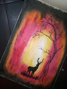 I started to draw using oil pastels 😅 Soft Pastel Art, Pastel Artwork, Oil Pastel Paintings, Oil Pastel Drawings, Oil Pastels, Mini Canvas, Diy Canvas Art, Acrylic Painting Canvas, Simple Oil Painting