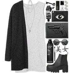 DAY WEAR - GRUNGE GUN (polyvore on we heart it)