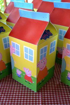 Peppa Pig House Milk Carton Party Favour Boxes …