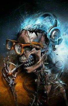 Art Works, Funny Photoshop, Photo Manipulation, Graphic Design, Types Of Art, Art, Art Series, Airbrush Art, Skull Wallpaper