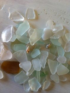 sea glass- what was once trash, the ocean turns into a beautiful find.
